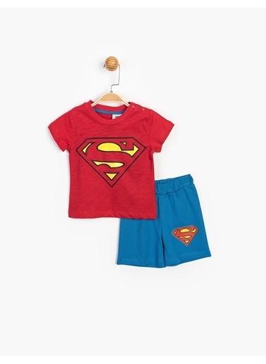 Superman  Şortlu Takım 15552 Kırmızı